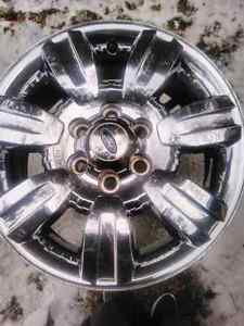"Set of 4 OEM Ford F150 18"" Chrome Rims 09-14 Kawartha Lakes Peterborough Area image 1"