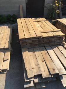 1x6 Cedar Boards EE PILE -  LUMBER CLEAROUT