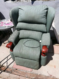 Rasing recliner and massage armchair