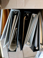 "Free Assorted 1.5 and 2"" three ring binders"