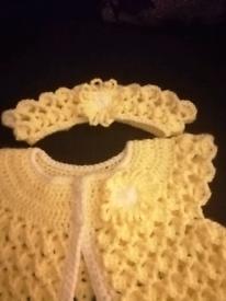 New baby cardigan with headband