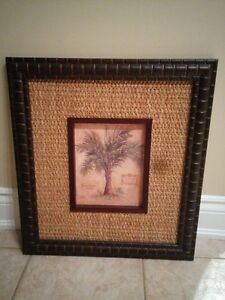 2 Palm Tree Framed Pictures Oakville / Halton Region Toronto (GTA) image 2