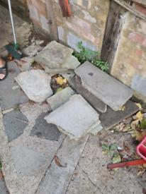 Crazy slabs, garden slabs, paving slabs