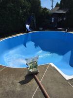 ouverture et changement toile piscine creusee