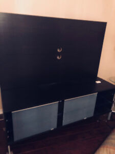 TV STAND WITH SLIDING GLASS DOORS FOR CD/BOOK COMPARTMENT!!!