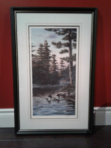 SIGNED LOONS ON LAKE PRINT BY KELLEY FOR SALE!!!!