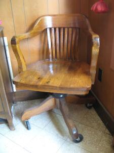 Antique Gilson Desk Chair