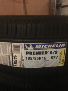 Selling set of 4 BRAND NEW 195/55/16 Michelin Summer Tires