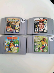 Nitendo 64 Games Goldeneye, Diddy Kong Racing !!!!