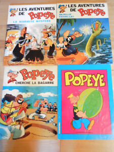 4 albums bd vintages de Popeye en bonne condition