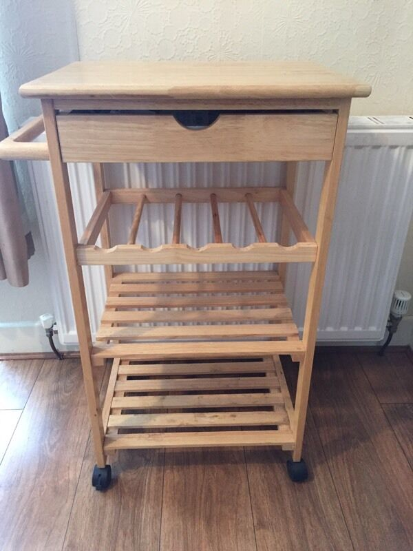 Kitchen Tidyin Smethwick, West MidlandsGumtree - Excellent condition.Kitchen tidy,Can hold wine bottles and has a draw.Handle on side and wheels attached for easy moving