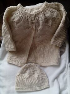Sweater and hat/chandail et chapeau/ NEW hand knit
