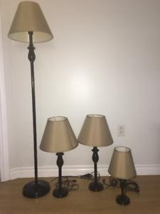 4 Piece Lamp Set