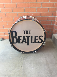 1960's 22 Inch Red Sparkle Bass Drum