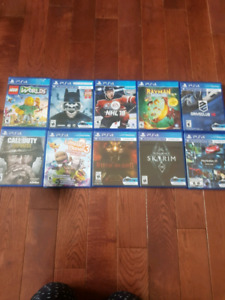 playstation 4 games all for trade