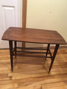 vintage wood occasional  table
