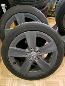 Audi OEM 17 in wheels continental purecontact 225 45 17