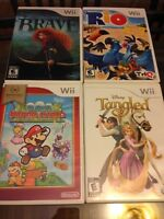 5 Wii Games Barely Used In Cases with Books
