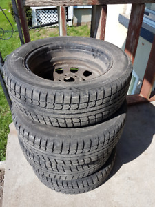 Set of 4 Winter Tires on rims for Sale