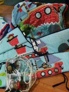 Douillette pour bassinette - thématique pirate