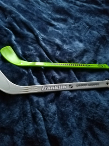 2 mini hockey stick