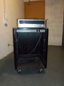 Rolling Effects Rack with Kenwood KR2400 Stereo Amp / Receiver