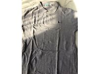 Grey Lacoste polo size small