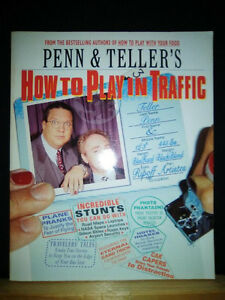 Penn & Teller softcover books - world famous magicians & writers
