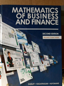 Mathematics of business and finance second edition