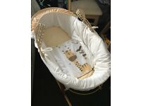 Baby Moses basket and rocking stand