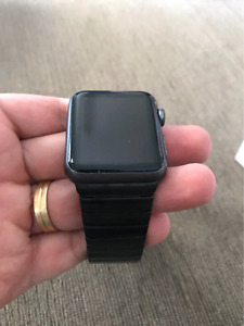 Apple Watch band Stainless Steel Link Bracelet 42mm NEW BLACK m