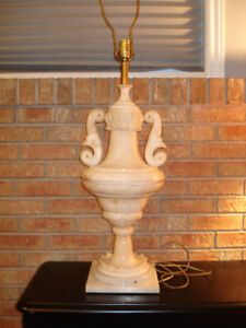 SOLID MARBLE VINTAGE 1960'S TABLE LAMP