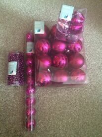 Pink tree decorations
