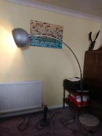 Lamp with floor switch HEAVY as marble base free led bulb £160 new!
