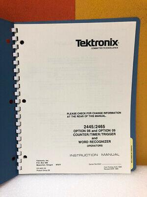 Tektronix 070-4631-00 24452465 Opt. 0609 Countertimertrigger Operator Manual