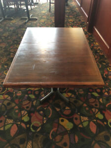Commercial Tables Wood Tops