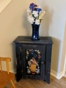 Antique handpainted small cupboard