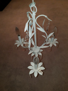 White and pink chandelier for sale