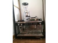 Commercial coffee machine & coffee grinder