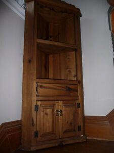 Mexican made wooden Corner cupboard Peterborough Peterborough Area image 1
