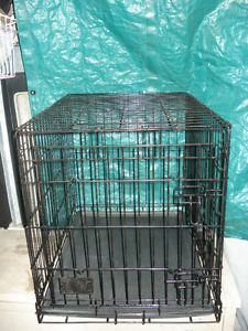 Pet Wire Cage / Crate With Plastic Pan