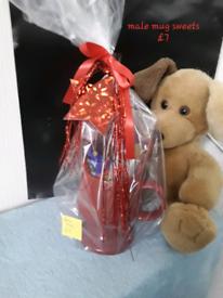 Mugs gift wrapped for Christmas