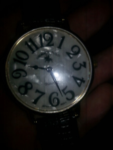 Polo mens watch alligator band big face