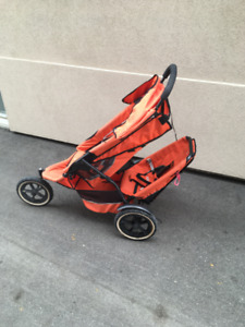 Phil and Teds e3 stroller with extra seat/ double stroller