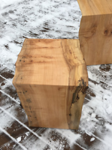 Live edge waterfall end tables