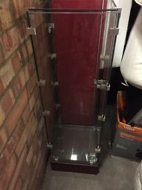 Glass cabinet with shelves £20