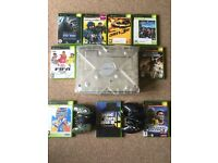 Xbox crystal and 9 games