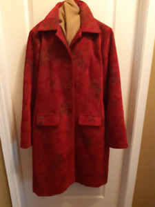"""""""Danier Leather,  Special Edition Brocade"""" Full Length Coat"""