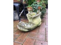 Very large Vintage boot planter