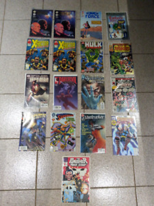 Lot de 17 comics, comic superman, daredevil, hulk, ironman, thor